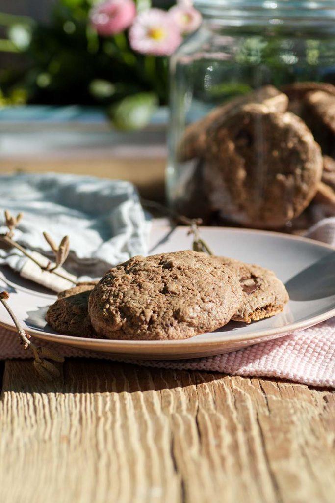 Hasel-Cookies mit Haselkätzchen